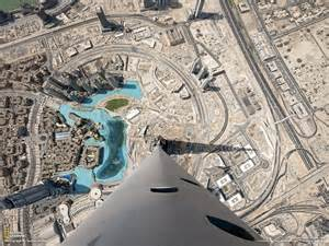 photo from the top of burj khalifa skyscraper in dubai
