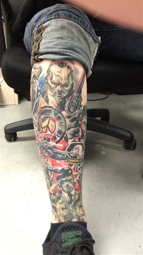 metal tattoos metal gear solid collage tattoos