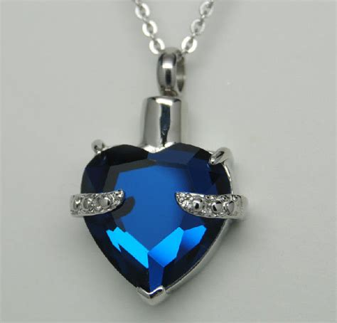 cremation jewelry sapphire blue cremation urn necklace cremation jewelry memorial pendant ebay
