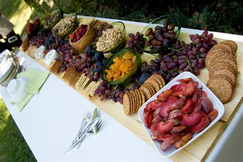 backyard food a backyard wedding details food yum
