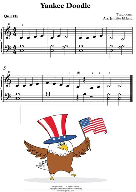 yankee doodle s s name 30 best images about easy patriotic piano sheet for