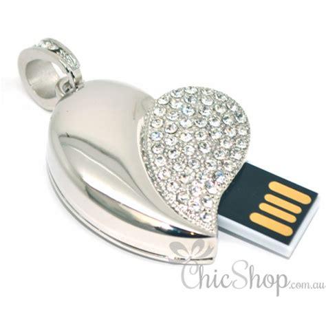 Usb Jewelry 8gb Silver shaped jewelry bling usb flash drive 8gb
