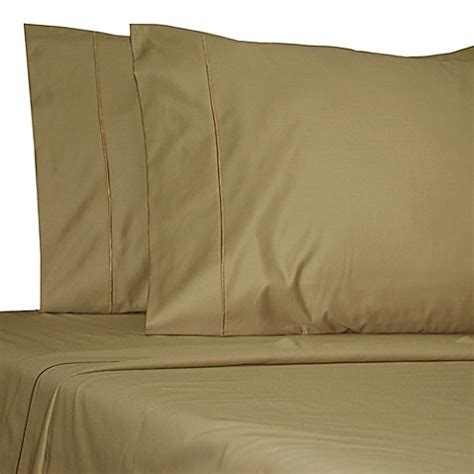 bed bath and beyond olympic buy damask solid 500 thread count egyptian cotton olympic queen sheet set in mocha