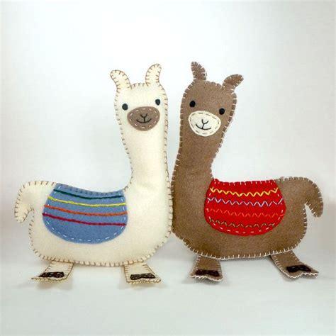 felt llama pattern llama sewing pattern felt llama pattern llama plushie
