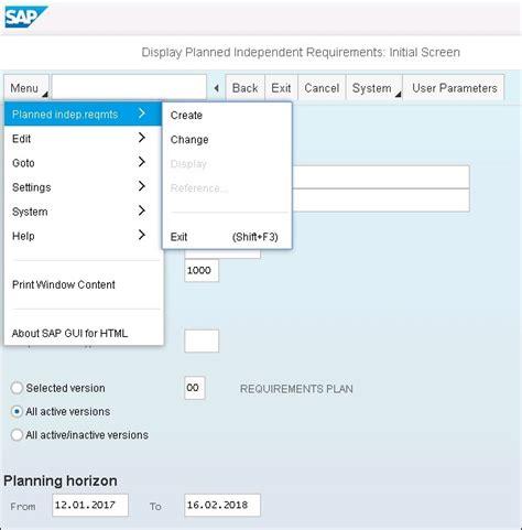 tutorial sap logistics sap simple logistics create pir