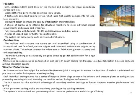 types of curtain walls system acp and glazing