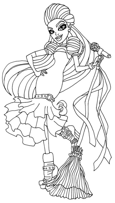 monster high coloring pages astranova casta fierce coloring pages pinterest