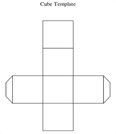 pattern for a cube shape cube template 9 free pdf documents download free