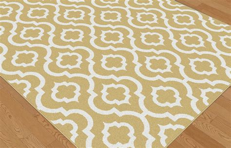 yellow patterned rug metro yellow contemporary patterned symmetrical 1023 yellow area rug ebay