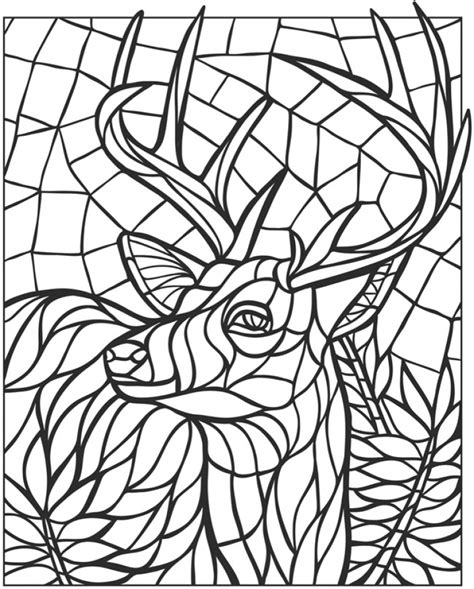 mosaic coloring pages free printable get this printable mosaic coloring pages online 34394