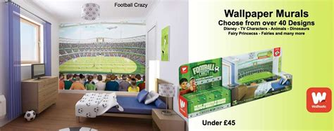 Football Murals For Bedrooms by Decor