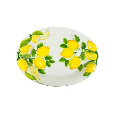 vassoio da portata vassoio in ceramica da portata con limone a rilievo