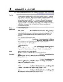 resume admitting hospital