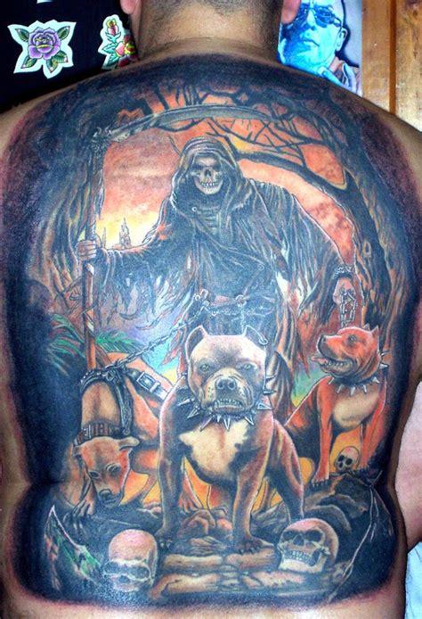 santa muerte colors tatuaje espalda a color santa muerte