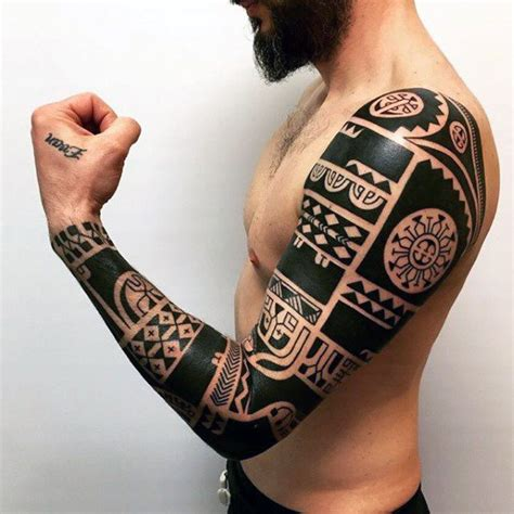 badass tribal arm tattoos 50 badass tribal tattoos for manly design ideas