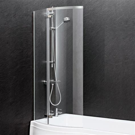 curved shower screens bath ella 1400 curved p bath screen ercs0 at plumbing uk