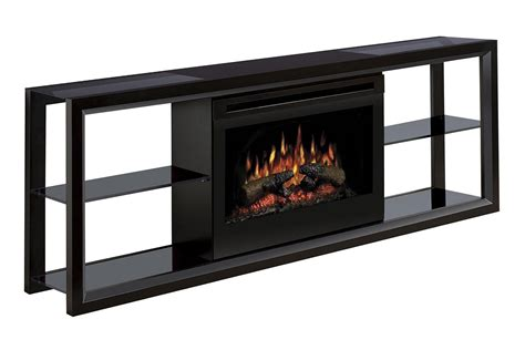 dimplex novara 65 quot fireplace tv stand with faux log