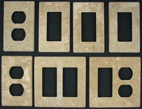 photo gallery of custom granite travertine marble stone switch plates switchplates