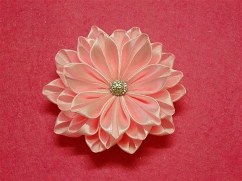 Handmade Ribbon Flower Tutorial - diy kanzashi flower ribbon flower tutorial how to easy the