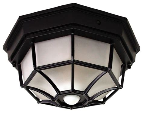 black farmhouse outdoor light octagonal black motion sensor outdoor ceiling light