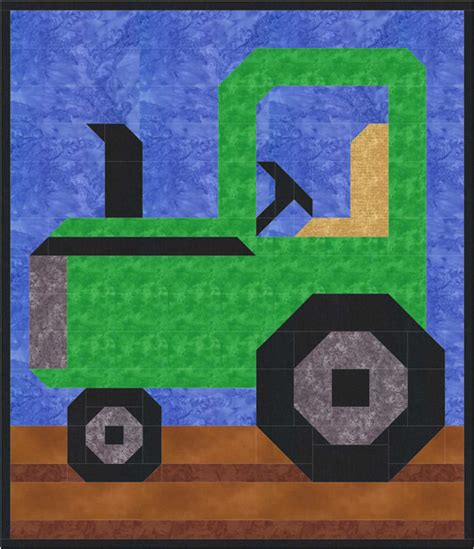 tractor quilt pattern cq 059 advanced beginner and