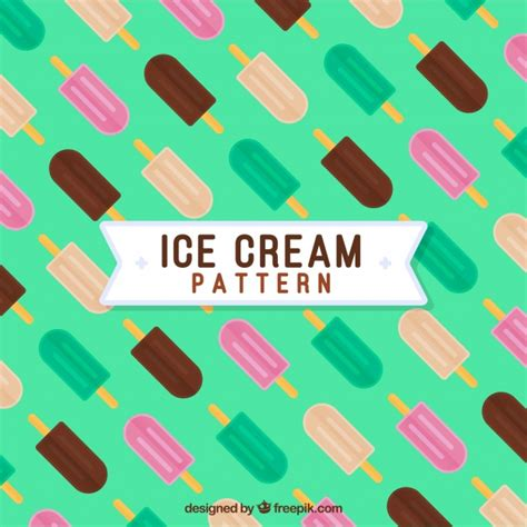 iced layout editor download ice cream pattern in flat design vector free download