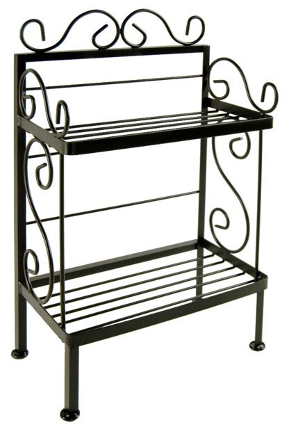 Wrought Iron Plant Stand   Traditional   Baker's Racks   by All About The Home