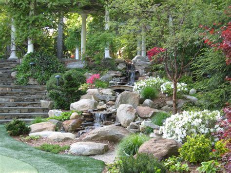 rock waterfalls for gardens 23 breathtaking backyard landscaping design ideas