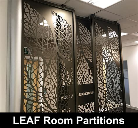 leaf decorative room partitions laser cut screens architectural home interiors
