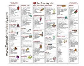 grocery list free printable template tampa homebody