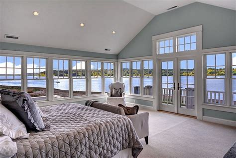 Cottage master bedroom with lake view amp carpet in bainbridge island wa zillow digs zillow