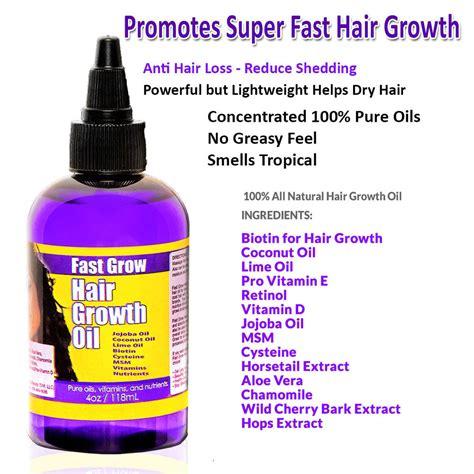 grow your hair faster 15 jamaican black castor oil hair fast grow hair oil 4oz coconut oil biotin jojoba msm and