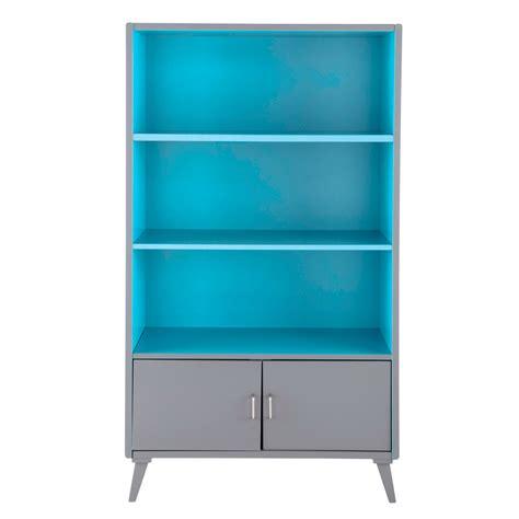 biblioth 232 que enfant vintage grise et bleue theo maisons