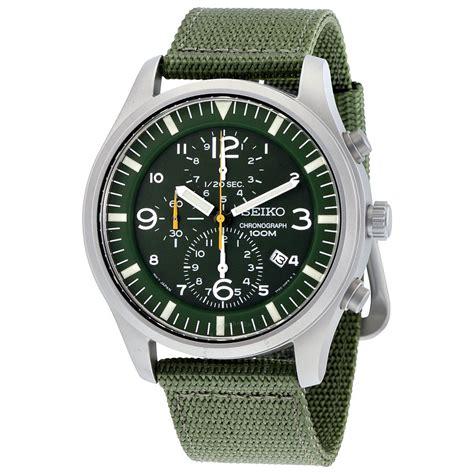 Jam Tangan Seiko Date Leather Crono Brown seiko chronograph green green s