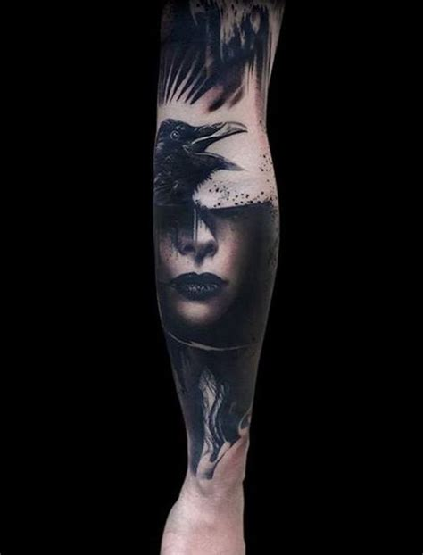 tattoo girl raven 60 mysterious raven tattoos beautiful design and girls