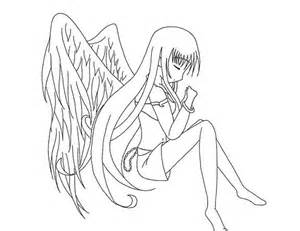 anime angel coloring coloring pages