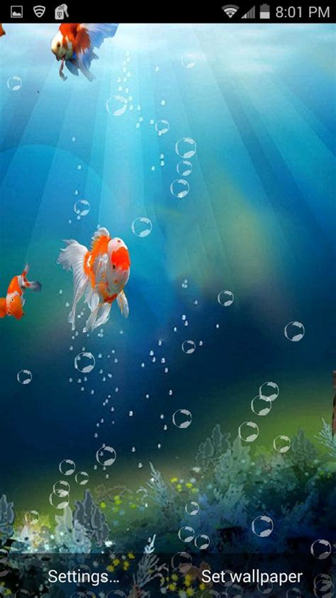 android live wallpaper for cell phones download goldfish in phone 3d live wallpaper free for