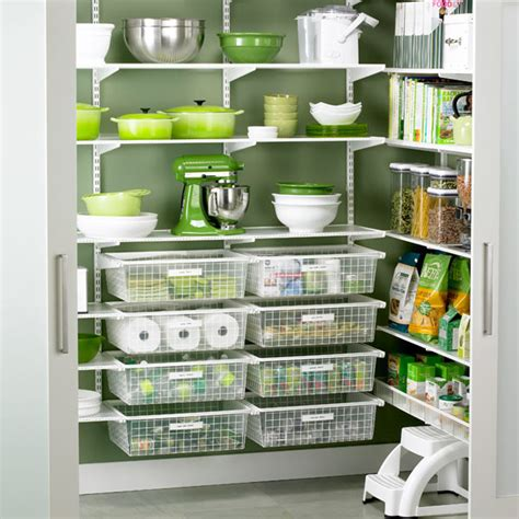 Pantry Organization Baskets by White Elfa Walk In Pantry Pantry And