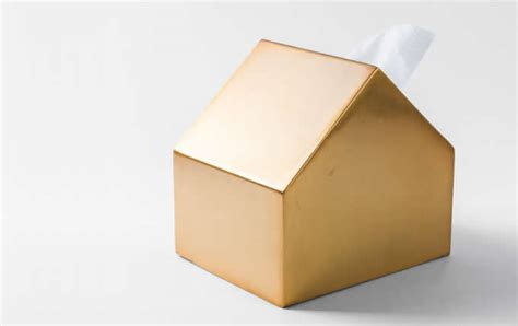 metal house shaped tissue box tissue holder cover feelgift