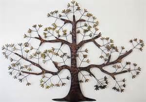 Metal Tree Wall Decor by New Contemporary Metal Wall Decor Or Sculpture Brown