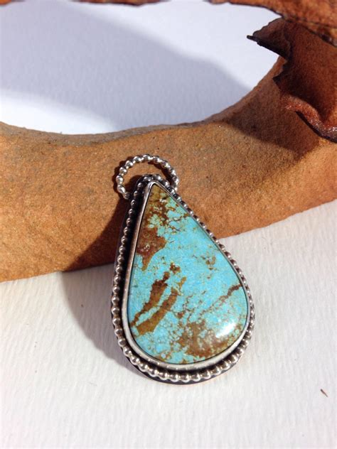 Handmade One Of A Jewelry - handmade jewelry one of a number 8 turquoise pendant