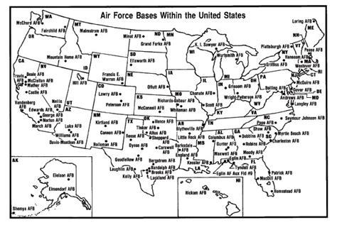 air bases map air graduation