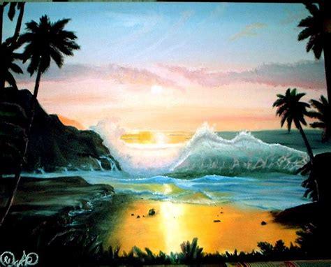 Lukisan Pemandangan Pantai cara membuat lukisan pemandangan yang indah lukisan