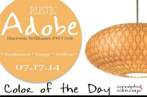 07 17 14 color of the day rustic adobe sherwin williams sw7708 light orange dform basket