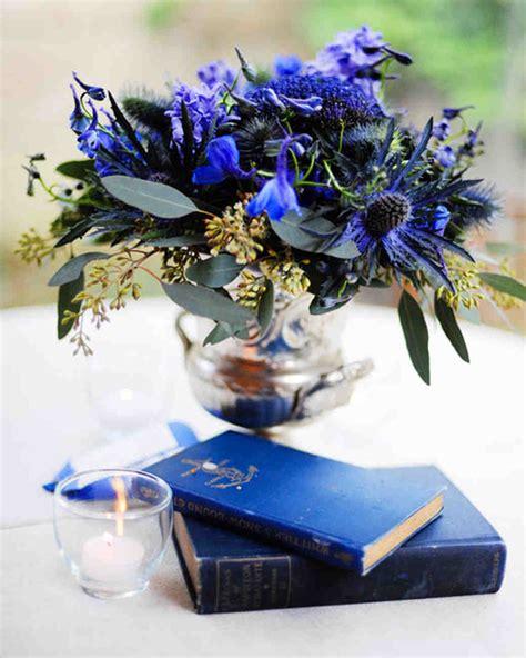 blue flowers centerpieces purple and blue wedding centerpieces martha stewart weddings