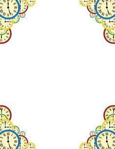 printable clock borders printable clock border free gif jpg pdf and png