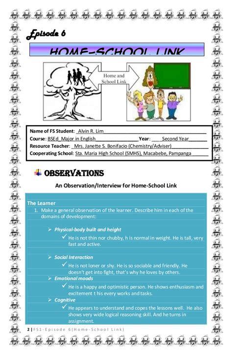 field study 1 episode 6 home school link