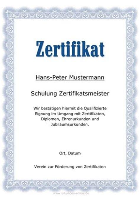 zertifikat hier selber gestalten und ausdrucken urkunden