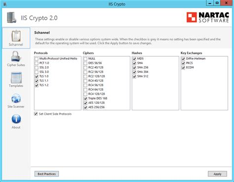 cryptography policy template nartac software iis crypto
