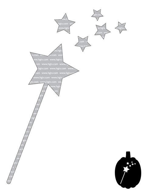 printable star for wand easy halloween pumpkin carving templates hgtv